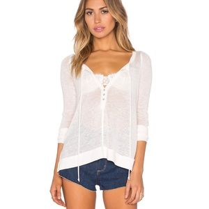 🆕EUC Free People Affogato Hacci Top in Ivory
